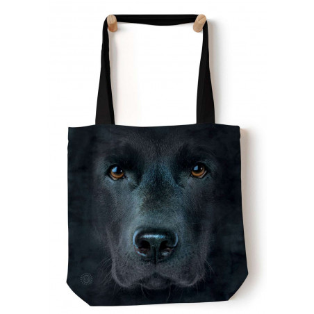Black Lab Face Tote Bag The Mountain