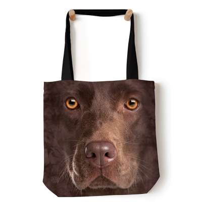 Chocolate Lab Face Tote Bag The Mountain