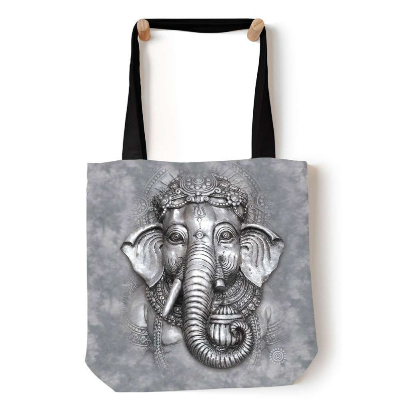 Big Face Ganesh Tote Bag The Mountain