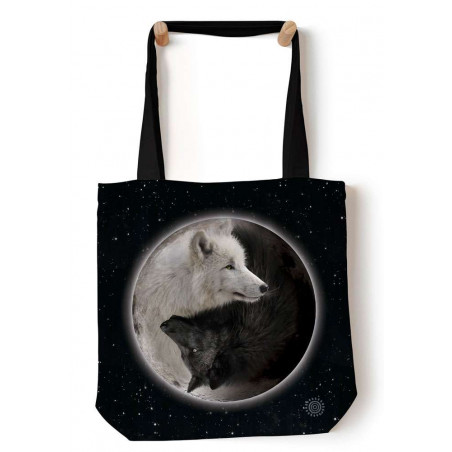 Yin Yang Wolves Tote Bag The Mountain