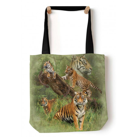 Wild Tiger Collage Tote Bag The Mountain