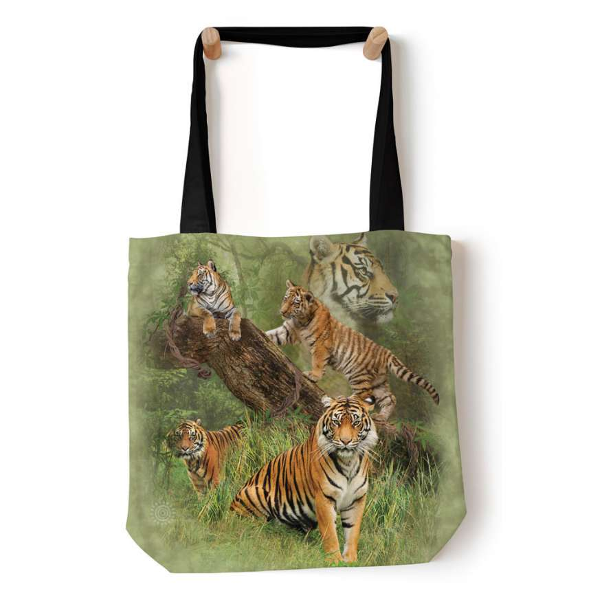 """The Mountain T-shirt /""""Wild Tiger Collage/"""""""