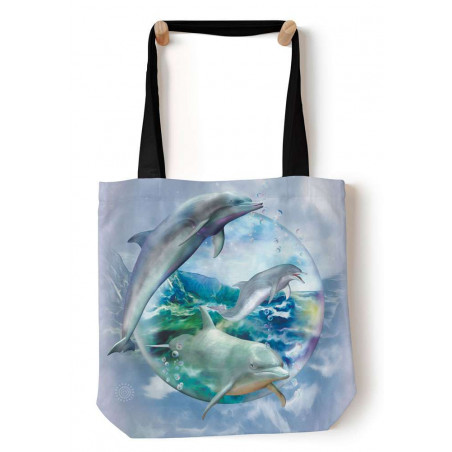 Dolphin Bubble Tote Bag The Mountain