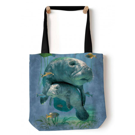 Manatees Collage Tote Bag The Mountain