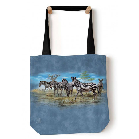 Zebra Gathering Tote Bag