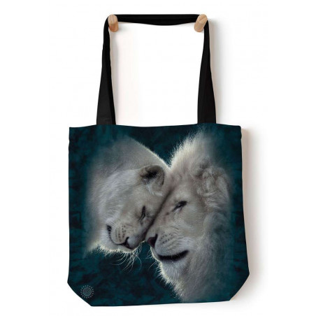 White Lions Love Tote Bag