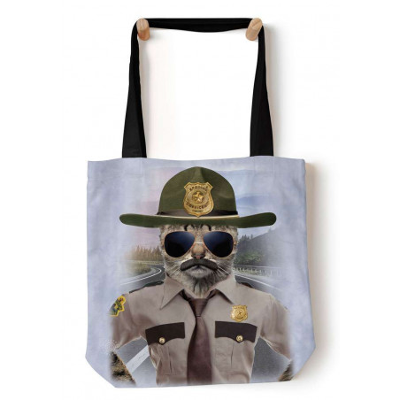 Kitten Trooper Tote Bag