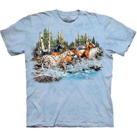 Find 20 Running Horses T-Shirt The Mountain