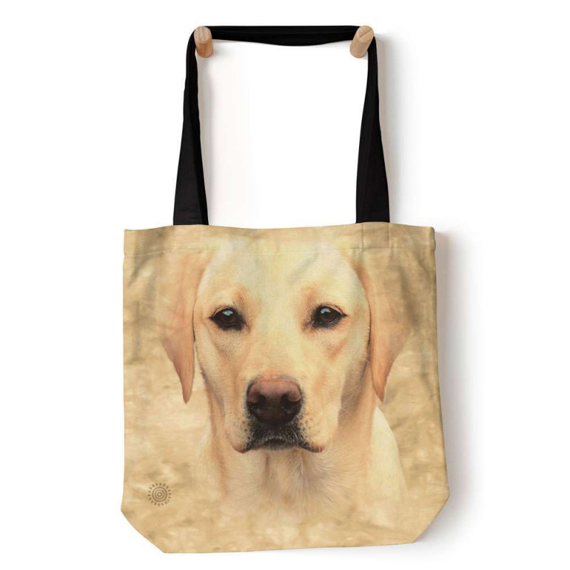 Yellow Lab Portrait Tote Bag