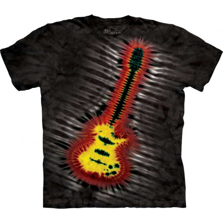 Tie-Dye Electric Guitar T-Shirt The Mountain