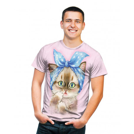 Big Face Panda Ladies T-Shirt