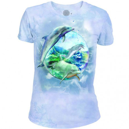 Dolphin Bubble Women's Tri-Blend T-Shirt The Mountain