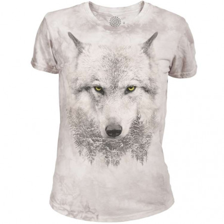 Wolf Forest Womens Tri-Blend T-Shirt The Mountain