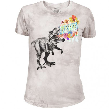 Rawr Womens Tri-Blend T-Shirt The Mountain