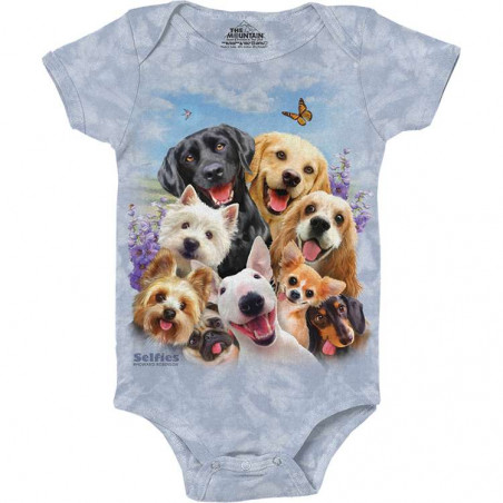 Dogs Selfie Baby Onesie The Mountain
