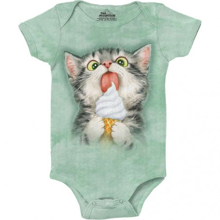 Creamy Cone Kitty Baby Onesie The Mountain
