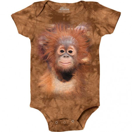 Orangutan Hang Baby Onesie The Mountain