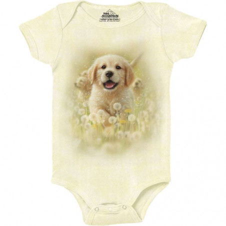 Golden Puppy Baby Onesie