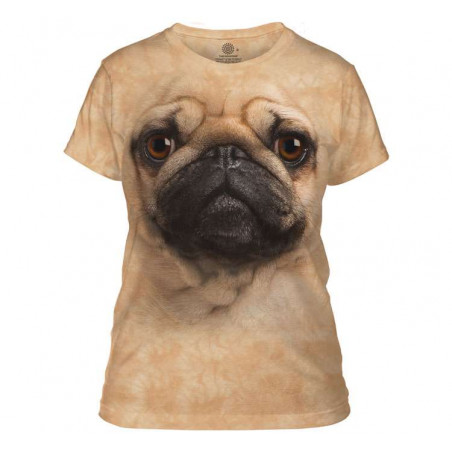 Pug Face Ladies T-Shirt