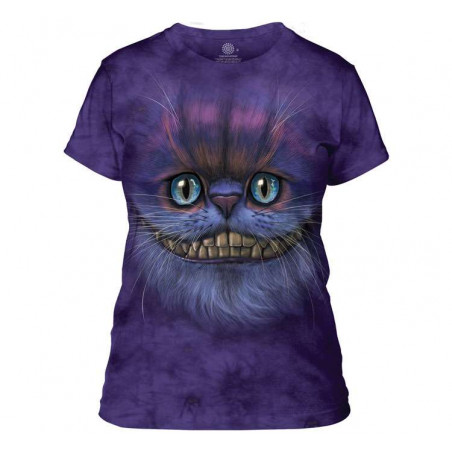 Big Face Cheshire Cat Ladies T-Shirt