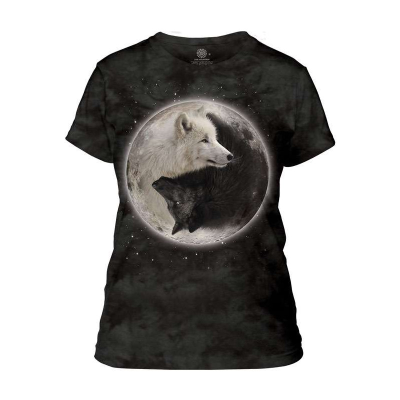 Yin Yang Wolves Ladies T-Shirt The Mountain