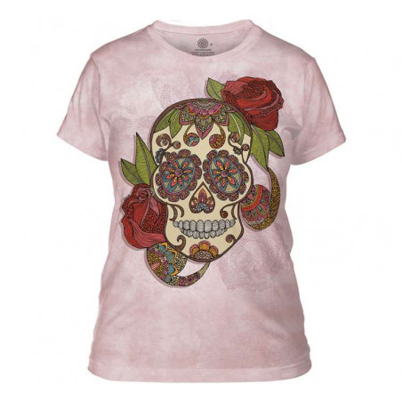 Paisley Sugar Skull Ladies T-Shirt