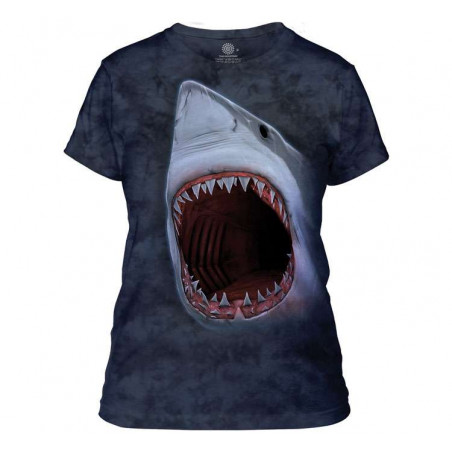 Shark Bite Ladies T-Shirt The Mountain