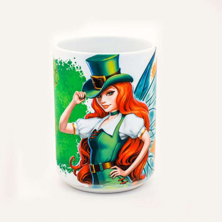 St. Patrick's Day Fairy Ceramic Mug The Mountain