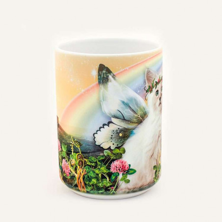 Irish Magic Kitten Fairy Ceramic Mug