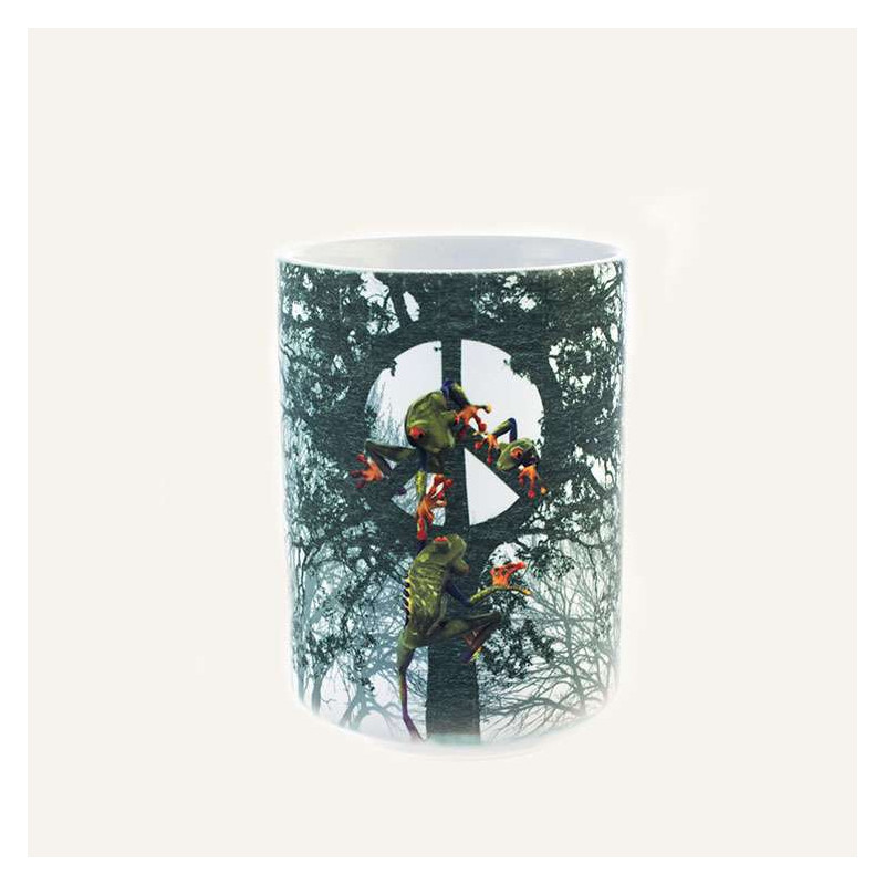 Peace Tree Frog Ceramic Mug The Mountain