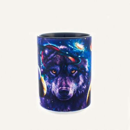 Wolf of the Cosmos Ceramic Mug