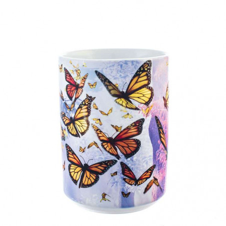 Ceramic Mug Monarch Butterflies