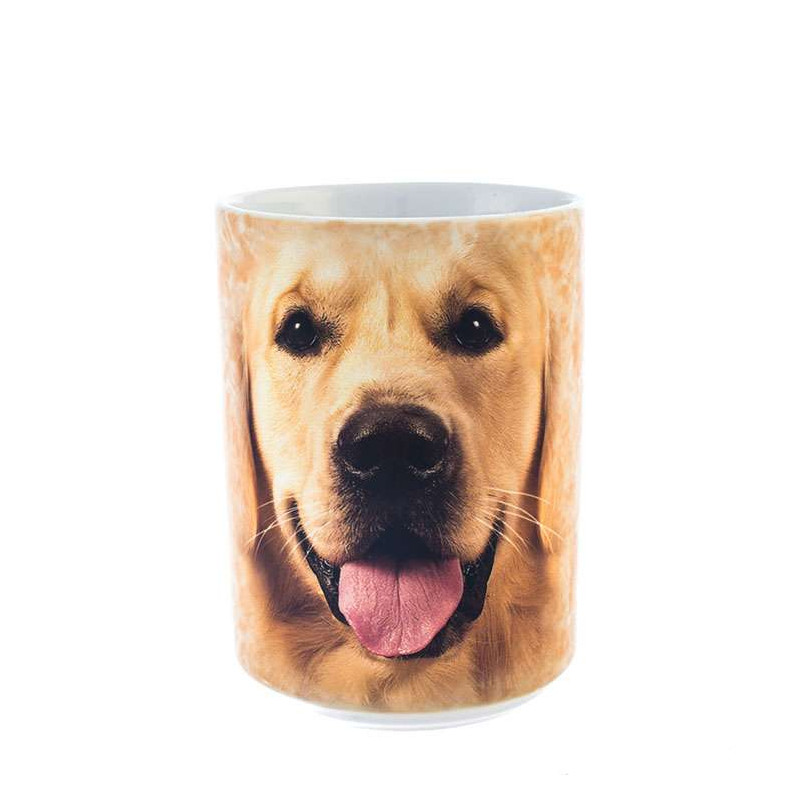 Big Face Golden Ceramic Mug The Mountain