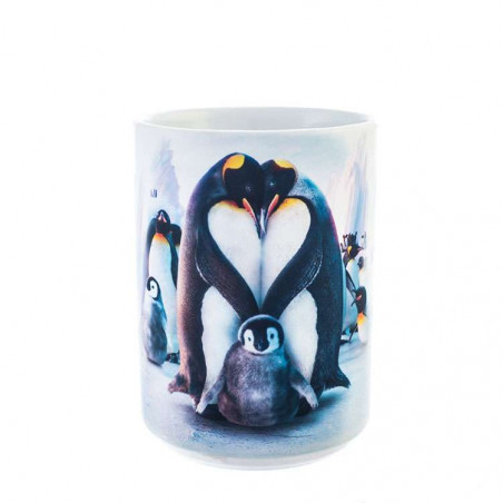 Penguin Heart Ceramic Mug