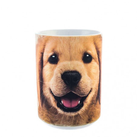 Golden Retriever Puppy Ceramic Mug The Mountain