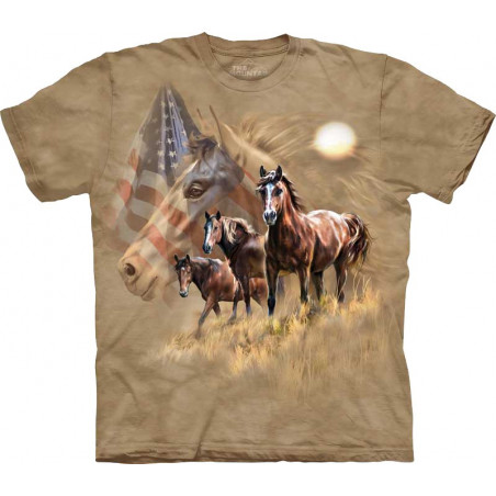 Patriot Horse T-Shirt The Mountain