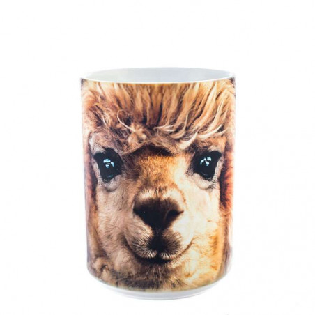 Big Face Alpaca Ceramic Mug The Mountain
