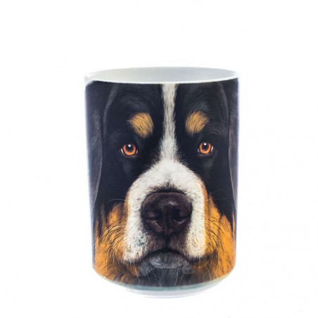 Bernese Mountain Dog Face Ceramic Mug