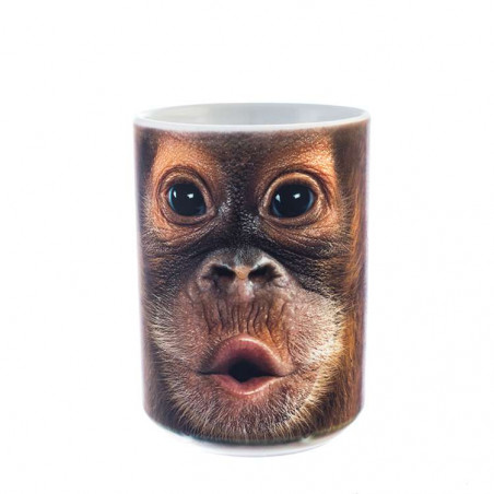 Big Face Baby Orangutan Ceramic Mug The Mountain