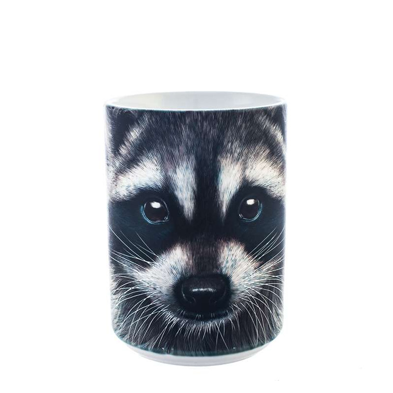 Raccoon Face Ceramic Mug