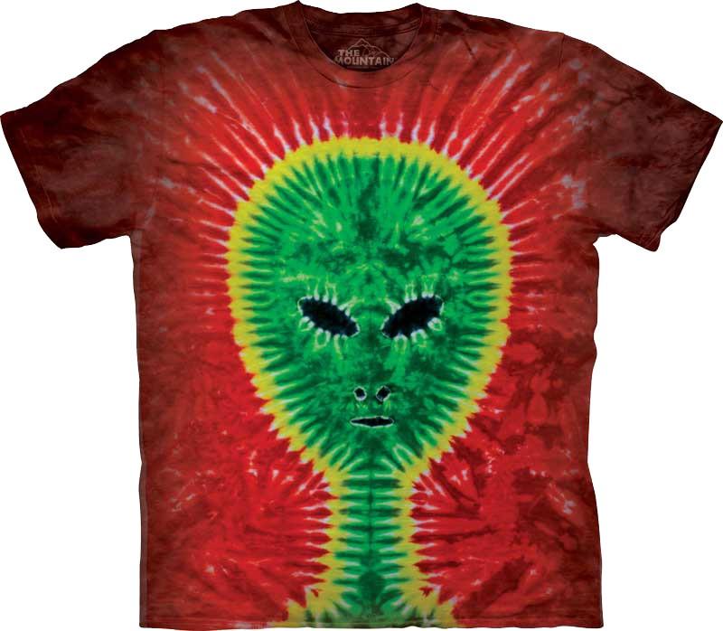 a1cc0553c065 Tie-Dye Alien T-Shirt The Mountain - clothingmonster.com