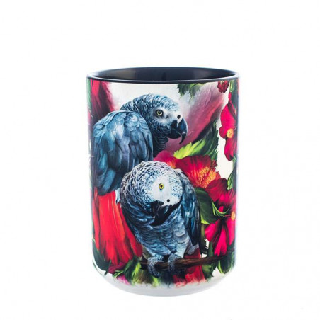 African Gray Mates Ceramic Mug The Mountain
