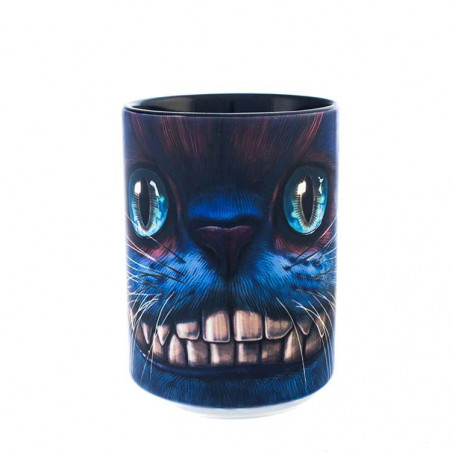 Big Face Cheshire Cat Ceramic Mug The Mountain