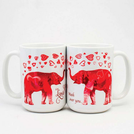 Elephant Love Ceramic Mugs The Mountain