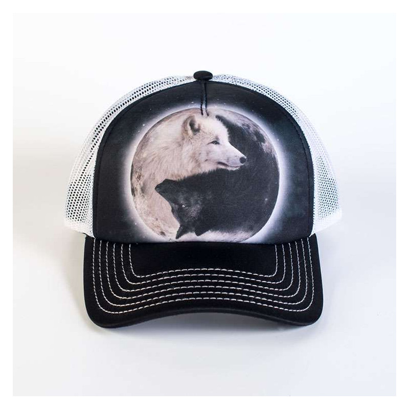 Yin Yang Wolves Trucker Hat The Mountain