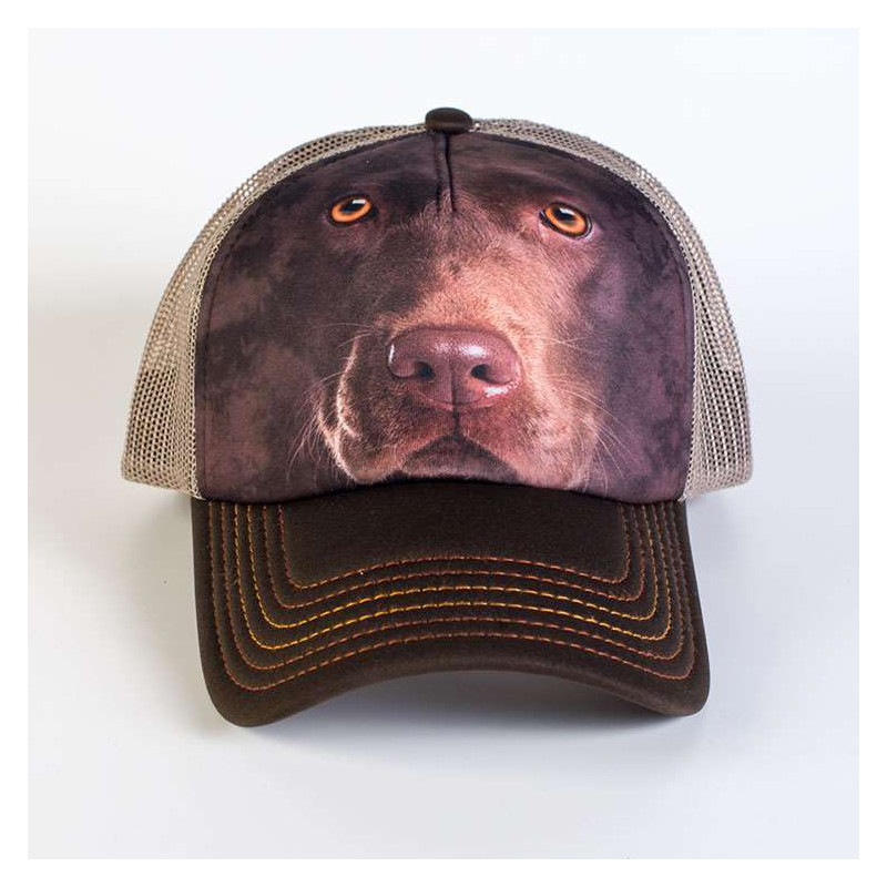 Chocolate Lab Face Trucker Hat The Mountain