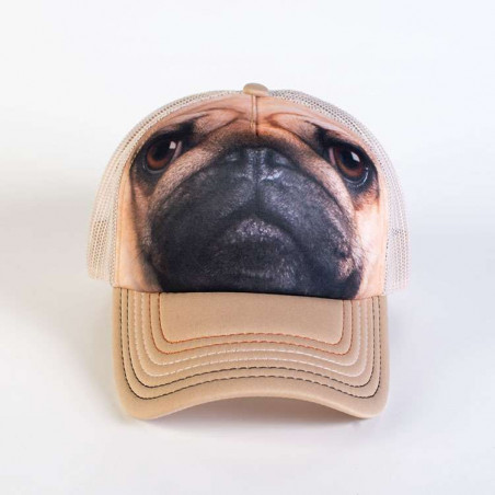Pug Face Trucker Hat The Mountain