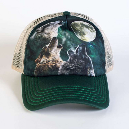 Three Wolf Moon Trucker Hat The Mountain