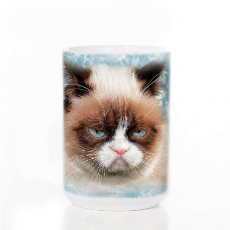 Grumpy Cat on White Ceramic Mug