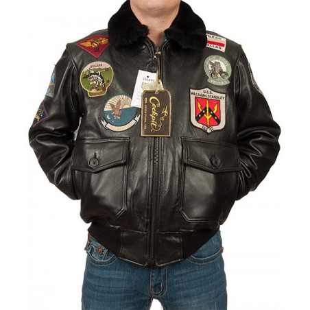 Jacke Top Gun Navy G-1 Cockpit USA